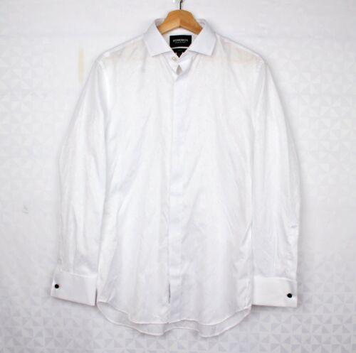 *Bonobos Slim Fit Tuxedo Shirt White Size 34 / 15-1/2