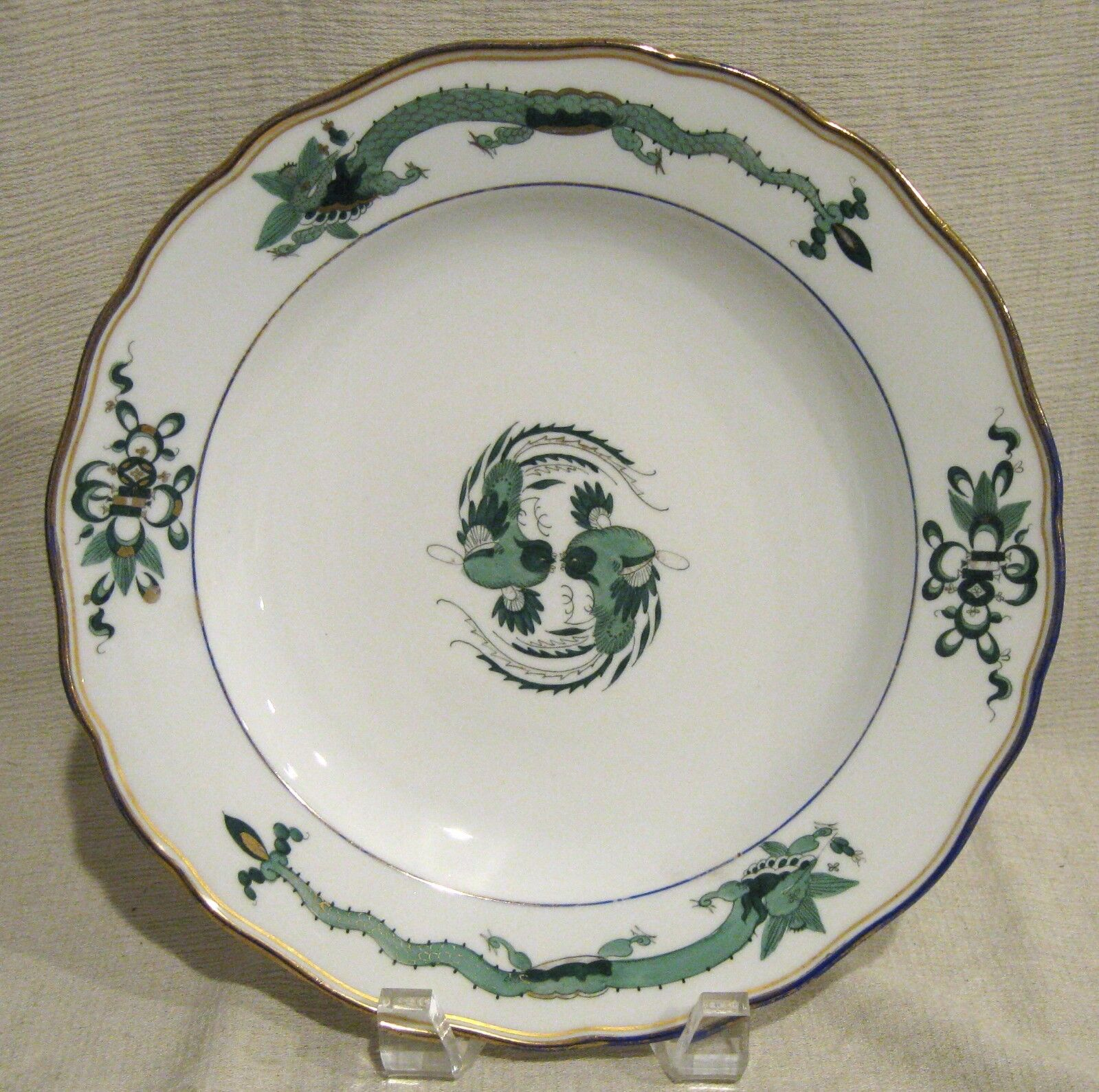 "Meissen Dragon Green 9 1/2"" Plate"