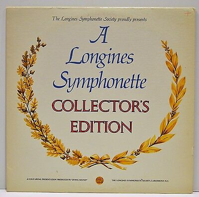 A LONGINES SYMPHONETTE   COLLECTORS EDITION    Vinyl LP   LW157    NM