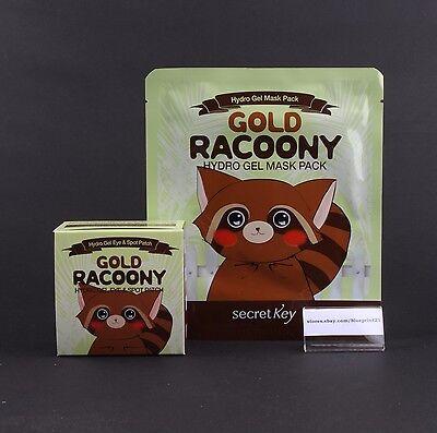 1+1 Secret Key Gold Racoony Hydro Gel Eye&Spot Patch + Mask *2ea Free Shipping