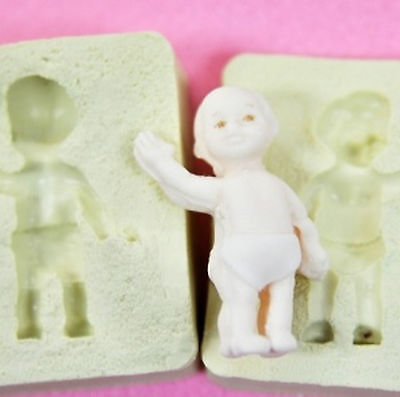 Hello Baby, Silicone Mold Chocolate Polymer Clay Jewelry Soap Melting Wax Resin