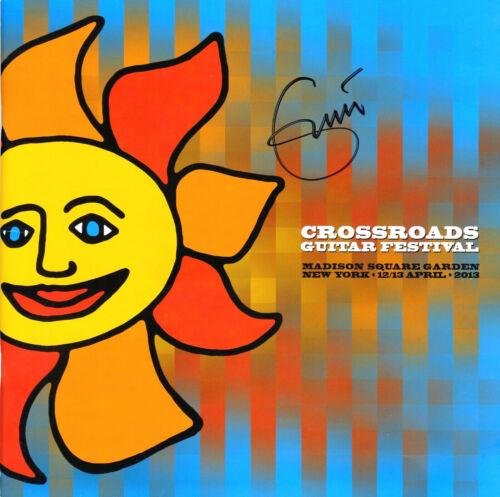Eric Clapton hand signed 11x11 Crossroads program. Very Rare!! (2)
