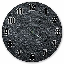 10.5 CHARCOAL ROUGH WALL STONE CLOCK - Large 10.5 Wall Clock - Home Décor 3232