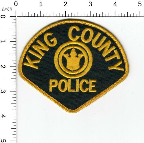 KING COUNTY POLICE SHOULDER PATCH WASHINGTON WA CC BACKING