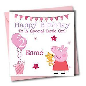 peppa pig birthday card  ebay, Birthday card
