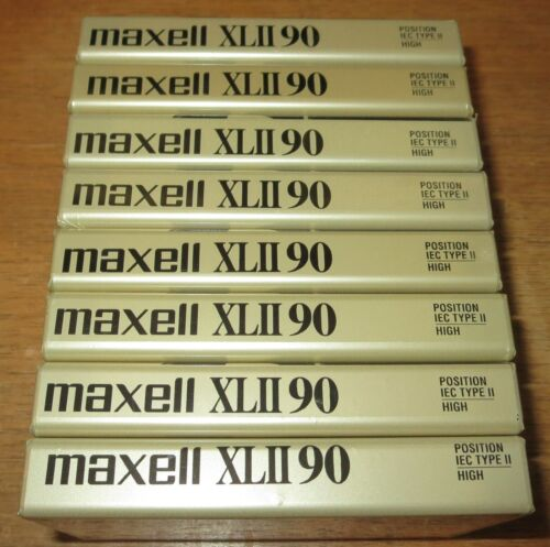Maxell XL II 90 Minute 8 Cassette Lot - Sealed
