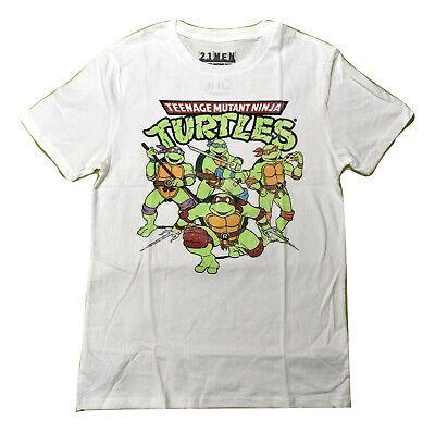 Mens Teenage Mutant Ninja Turtles TMNT Distressed Print Shirt New XS, S, M, L - Ninja Turtle Shirt