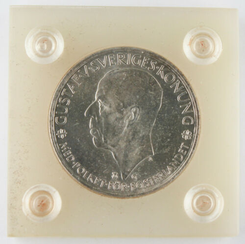 Sweden 1935 G 5 Kronor Silver Coin GEM BU 500th Anniversary of Riksdag KM# 806