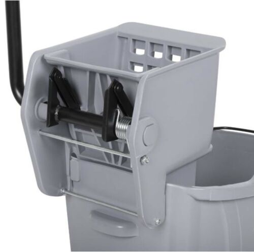 Commercial Wet Mop Bucket & Wringer Combo 36 Quart Gray Janitorial Hotel
