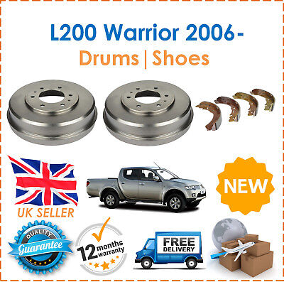 For Mitsubishi L200 Warrior 2.5 DID 2006 Brake Shoes Set Rear Brake Drum x2