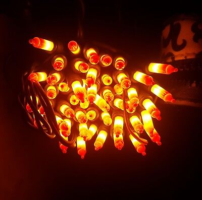 Lots Of Halloween Candy (100 Halloween Candy Corn Lights, 2 Strings of 50 each,  Black)