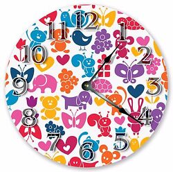 10.5 COLORFUL ILLUSTRATION - KIDS CLOCK - Large 10.5 Wall Clock 3346