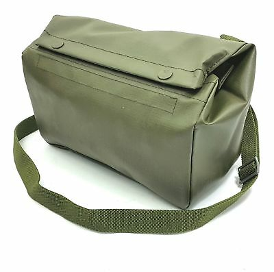 SWISS ARMY MILITARY SHOULDER BAG RUBBERIZED PACK SURPLUS OD GREEN POUCH  BACKPACK aed18fe755a8c