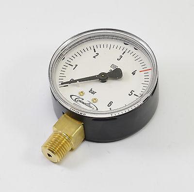 New Cornelius Manometer Pressure Gauge Reducer Regulator 0-6 Bar Argon Co2