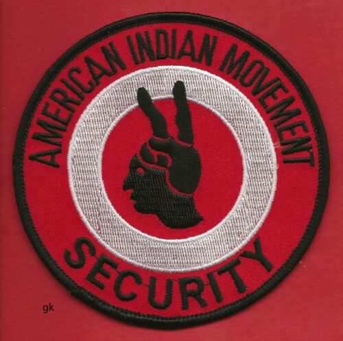 AIM AMERICAN INDIAN MOVEMENT  SECURITY SCRIPT SHOULDER  PATCH.