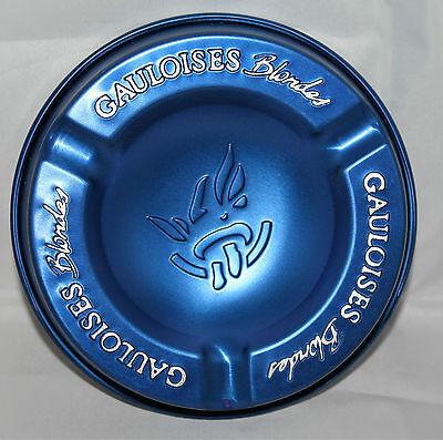 Gauloises Blondes Zigaretten Tabak Aluminum Aschenbecher Blau leicht Prägung NEU