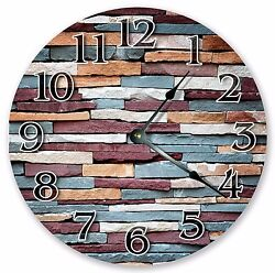 10.5 SOLID COLORED WALL BRICKS CLOCK - Large 10.5 Wall Clock Home Décor - 3069