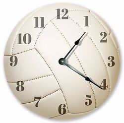 10.5 WHITE VOLLEYBALL CLOCK - Large 10.5 Wall Clock - Home Décor Clock - 3167