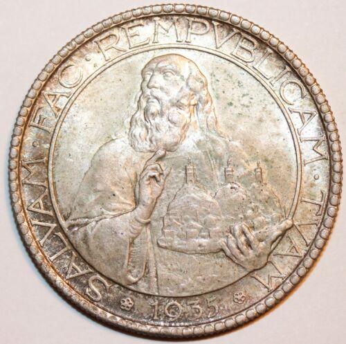 1935 San Marino 20 Lire . Great original coin     # 0122