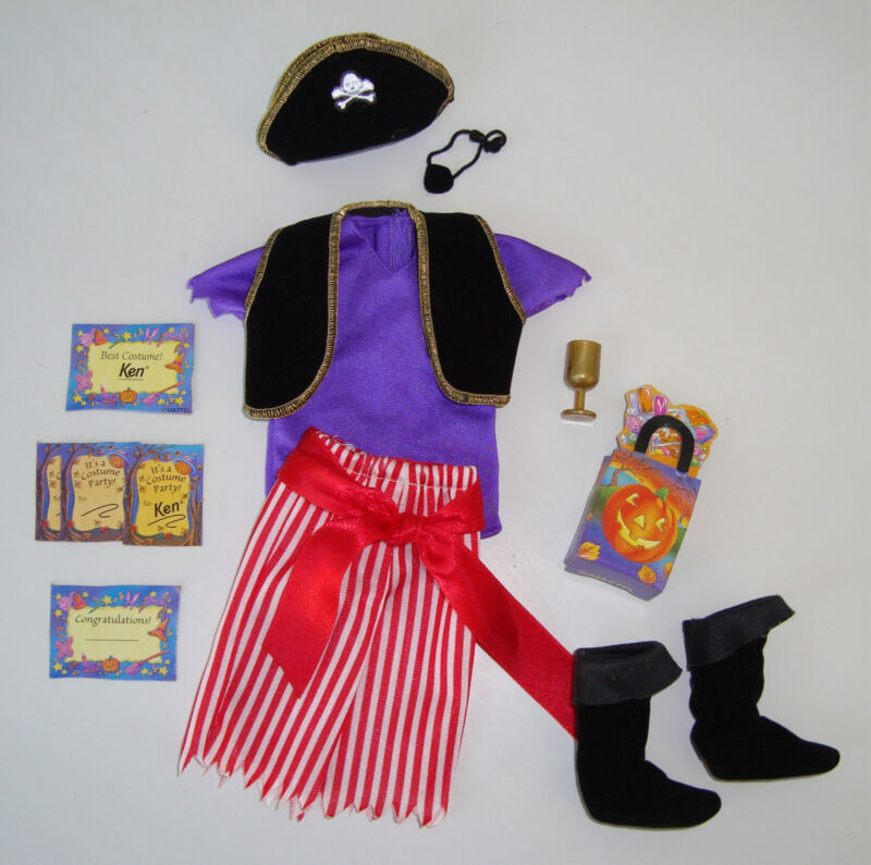 Barbie/KEN Clothes/Fashion Pirate Costume With Accessories! NEW!