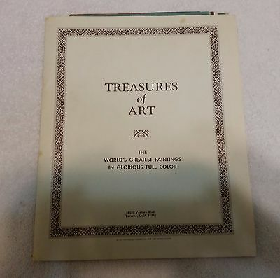 Famous Art Reproductions - Treasures of Art 1937 Vintage Reproductions 18 famous Prints of the Masters Lot