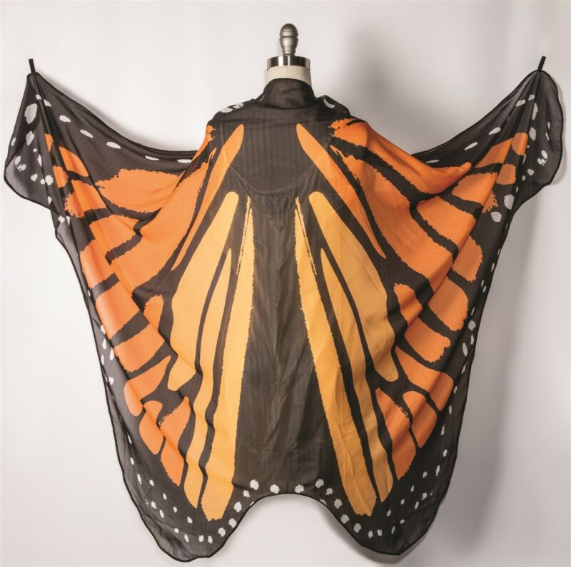 Victorian Trading Co Monarch Butterfly Halloween Costume Cape