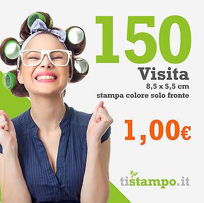 150 BIGLIETTI DA VISITA 300 GR. STAMPA SOLO FRONTE A 1 EURO