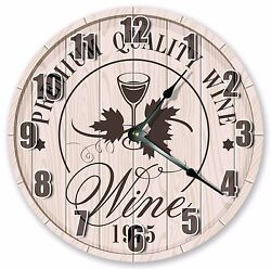 10.5 GLASS OF WINE CLOCK - Large 10.5 Wall Clock - Home Décor Clock - 3006