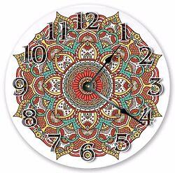 10.5 RED MANDALA DESIGN DECORATIVE CLOCK Large 10.5 Wall Clock - 3329