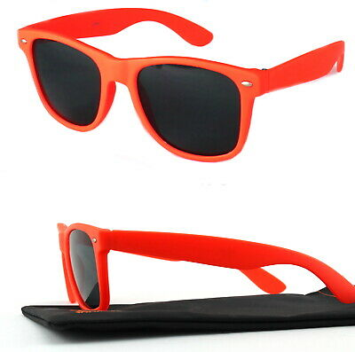 Nerd Sonnenbrille Retro Party Brille Fun Schwarz Damen Herren Neon Orange Viper