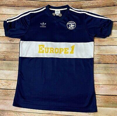 ADIDAS FC NANTES Jersey 1986-1987 Rare FRANCE Soccer Shirt Blue Medium ORIGINAL  image
