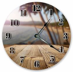 10.5 DECK ON PALM TREES BEACH CLOCK - Large 10.5 Wall Clock Home Décor - 3074