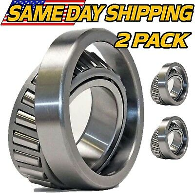 - (2 Sets) LM11949 & LM11910 Trailer Hub Wheel Bearing I.D. 0.75