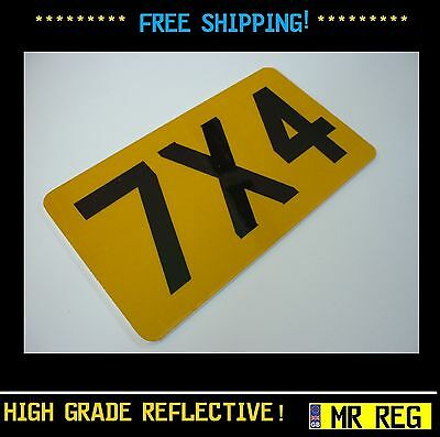 "MOTORBIKE MOTORCYCLE  REGISTRATION NUMBER PLATE SIZE 7"" X 4"" CUSTOM SHOW PLATE"