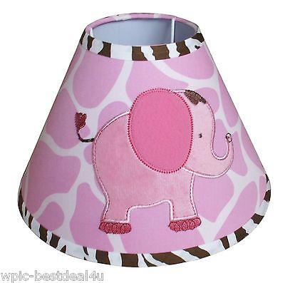 Lamp Shade - Pink Safari Baby by Sisi (Baby Safari Lamp Shade)