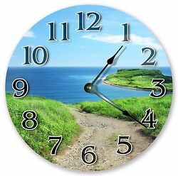 10.5 BEACH PATHWAY NATURE CLOCK - Large 10.5 Wall Clock - Home Décor - 3227