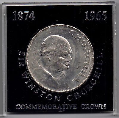 GB-UK 1965 QE II 'Churchill '1 Crown* uncirculated cased