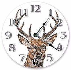10.5 DEER HEAD PIXELS - ABSTRACT ARTIST CLOCK - Large 10.5 Wall Clock 3347