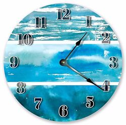10.5 BLUE OCEAN ABSTRACT CLOCK - Large 10.5 Wall Clock Home Décor Clock - 3105