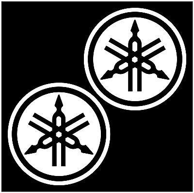 2  Yamaha Emblem Decals For Atv Motorcycles Dirt Bike Snowmobile 2 Stroke
