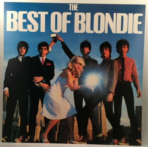 "BLONDIE Best Of Blondie 1981 Chrysalis promo poster flat 12""X12"" Debbie Harry"