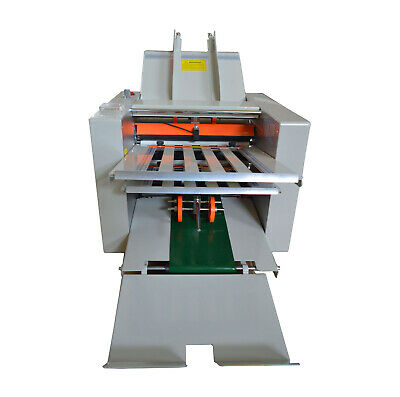 110v Speed Adjustable Folding Paper Machine Paper Folder For Manuals Letters New