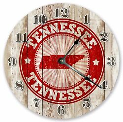 10.5 TENNESSEE RUBBER STAMP CLOCK - Large 10.5 Wall Clock - Home Décor - 3239