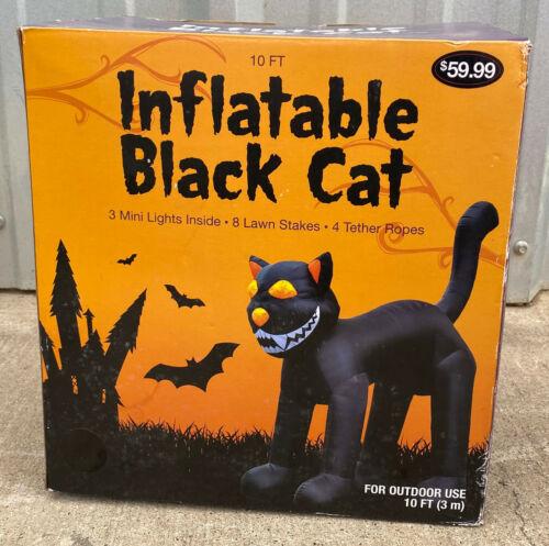 2012 Walgreens 10 FOOT TALL INFLATABLE BLACK CAT Airblown Halloween Decoration