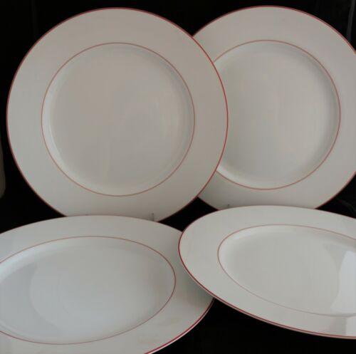 Set 4 FITZ & FLOYD JAPAN CHARGER SERVICE PRESENTATION PLATES Gourmet Porcelain