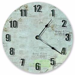 10.5 OLD PAPERS AND STAMPS CLOCK Large 10.5 Wall Clock Home Décor Clock - 3097