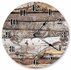 10.5 LOG CABIN CLOCK - Large 10.5 Wall Clock - Home Décor Clock - 3203