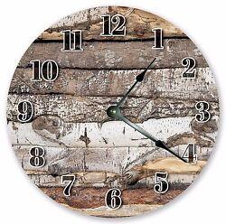10.5 LOG CABIN CLOCK - Large 10.5 Wall Clock - Home Décor Clock - 3203