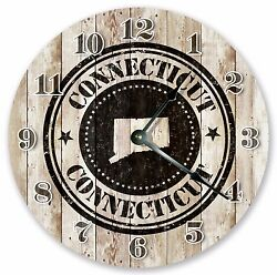 10.5 CONNECTICUT RUBBER STAMP CLOCK - Large 10.5 Wall Clock - Home Décor -3241