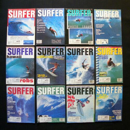 SURFER MAGAZINE 1994 VOL 35  LOT OF 12 ISSUES SURFER LONGBOARDING  HAWAII
